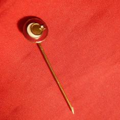 Insigna veche Federatia Tenis de Masa Turcia, d= 0, 8 cm, Europa