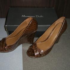 PANTOFI MASSIMO DUTTI - Pantofi dama, Marime: 38, Maro