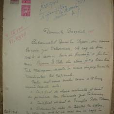 Lot 3 cereri pentru reducerea taxei scolare - 1948 - Hartie cu Antet