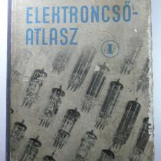 CARTE RARA - LAMPI RADIO - CATALOG DE TUBURI ELECTONICE - FABRICATE PINA IN ANUL 1956 - ELEKTRONCSO - ATLAS - MAGHYARI BELA - 1957 - LIMBA MAGHIARA - Carte veche