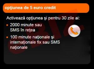 Credit Cartela Orange Prepay - Optiunea de 5 euro cu 2000 minute / SMS in retea + 100 minute / SMS nationale + BONUS 10 minute nationale foto