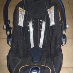 Scaun auto, cosulet, 0-13kg, Chicco - Scaun auto bebelusi grupa 0+ (0-13 kg) Chicco, Altele, Albastru, Isofix, In sensul directiei de mers