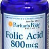 Acid folic 800 mcg, 250 tablete - Vitamine/Minerale