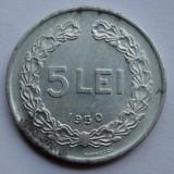 5 lei 1950 Luciu de batere - Moneda Romania