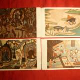 Set 5 Ilustrate China - Fresce antice 1951