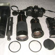 Minolta x 700 + diverse accesorii - Aparat Foto cu Film Konica Minolta, SLR