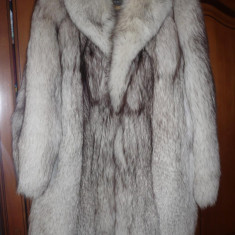 Haine dama - Blana de vulpe argintie