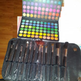 Trusa Machiaj Make-up Profesionala 120 Farduri Culori FRAULEIN + CADOU SET /12 PENSULE PROFESIONALE DE MACHIAJ