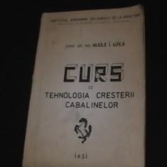 CURS DE TEHN. CRESTERII CABALINELOR- V. UJICA- INST- AGRON-ION IDE LA BRAD