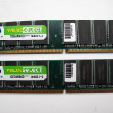 KIT Dual Channel 2 x 256mb=512mb   DDR1 Corsair Values Select 400 PC3200 |K2|