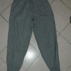 Pantaloni dama, Lungi, Bumbac - Pantaloni fashion de dama/dete/adolescente cu talie inalta pe talie si stransi jos, tip salvari, marimea M, REDUSI ACUM!
