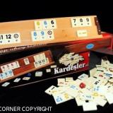 SET DE JOC REMI/RUMMY/REMI LEMN MASIV PIESE PRAF DE PIATRA 4 TABLE SACULET PENTRU PIESE - Jocuri Board games