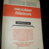 Biblioteca critica , Nicolae Filimon interpretat de