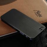 Husa protectie iPhone 4, 4s - 100% aluminiu finisat, 0.3 mm, nu piele, neagra - Husa Telefon Apple, Negru, Metal / Aluminiu