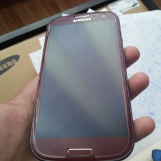 Vand samsung s3 i9300 Red necodat - Telefon mobil Samsung Galaxy S3, Rosu, 16GB, Quad core, 2 GB, 2G & 3G