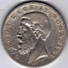 Monede Romania, An: 1884 - 1) Moneda argint 1 leu 1884, stare buna