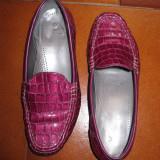 Pantofi  dama  pantofi din lac mov , mocasini din piele masura 3 1/2 sau 36