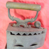Fier de calcat foarte vechi cu carbuni pt. colectionari,FIER DE CALCAT ANTIC cu JAR ,COMPLET si PERFECTA STARE