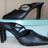 Saboti /papuci dama,imitatie piele, marimea 37, interior 24cm, noi in cutie