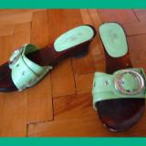 Sandale dama - Sandale / pantofi - dama, Nr. 36, culoare verde, folositi
