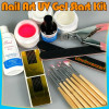 KIT UNGHII FALSE , SET MANICHIURA-GELURI UV-- DEGRESANT-- PENSULE