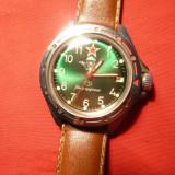 Ceas Militar ( parasutisti) - Komandirski - cadran verde , calendar