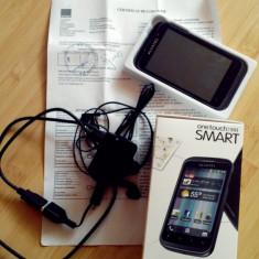 Alcatel One Touch 991 stare perfecta, aspect 10/10, certificat de garantie folosit 2 saptamani - Telefon Alcatel, Negru, Neblocat