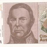 Bnk bn argentina 5 australes 1986-1989 unc
