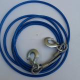 Sufa cablu ( metalic / otel ) de tractare / remorcare cu carlige ( 4m )