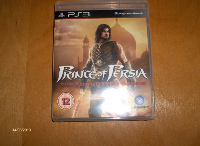 PRINCE OF PERSIA THE FORGOTTEN SANDS PS3, JOC PS 3 SH ORIGINAL foto mare