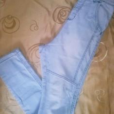 Jeans Pull & Bear - Blugi barbati Pull & Bear, Marime: 36, Culoare: Alb, Lungi, Lasat