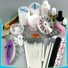 KIT SET Unghii false Sina GEL UV MANICHIURA 15 pensule.accesorii nail art