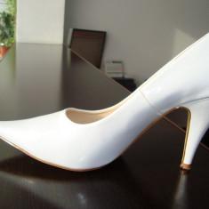 Pantofi dama, Marime: 40, Alb - PANTOFI MIREASA