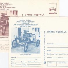 Carte postala tematica, Necirculata, Europa - Masini vechi, muzeul tehnic, doua culori imprimare, Romania.