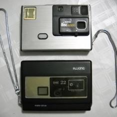 Accesoriu foto - Lot 2 aparat foto vechi cu disc de colectie unu Kodak functionabile