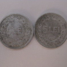 Monede Romania - 5 LEI 1949+5 LEI 1950