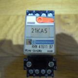 Releu Industrial Telemecanique RXN 41611 B7 + RXZ7G - RELEU MINIATURA 24 Vca (6A / 250V)