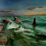 Vand tablou cu peisaj oceanic - Pictor roman, Peisaje, Realism