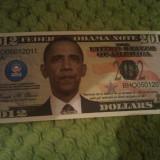 Bancnota Straine - Federal Obama Note 2012 seria BHO05012011 UNC, necirculata, 5 roni