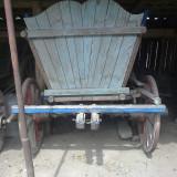 Metal/Fonta - Car din lemn rustic