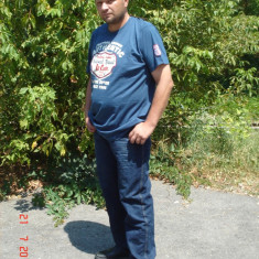 Lee Cooper - Tricou - Tricou barbati Lee Cooper, Marime: XL, Culoare: Bleu, XL, Maneca scurta, Bleu