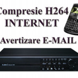 DVR SCV - 8000 - 8 Canale Video, 4 Canale Audio, 200 FPS Inregistrare, Compresie H.264, INTERNET, Suporta supraveghere si de pe TELEFONUL MOBIL
