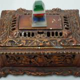 AuX: Frumoasa cutie de bijuterii confectionata din aluminiu si plexiglas !! - Metal/Fonta