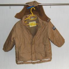 Haine Copii 4 - 6 ani - Geaca fas toamna-iarna, IMPIDIMPI, 4-5 ani, bej, cu gluga, captusala fleece (masuratori)