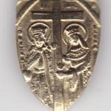 Insigna, Europa - 2 Insigne aur: Constantin si Elena -2, 84 grame marcat+Danemarca-3.79gr
