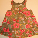 Rochie rochita deosebita pentru fetite, marimea 6 luni, pentru 68 cm, 100% bumbac, made in France, Multicolor