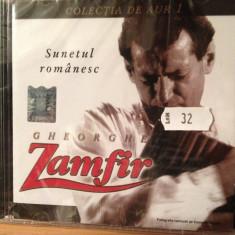 GHEORGHE ZAMFIR - SUNETUL ROMANESC ( A & A REC.-CD NOU, SIGILAT) - Muzica Populara a&a records romania