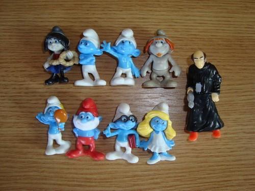 Kinder- Strumfii- Strumfi- Strumpfi- The Smurfs- set complet foto mare