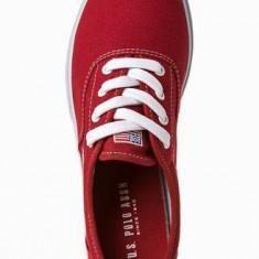 Adidasi US Polo Assn Dominic originali - adidasi barbati - panza - in cutie - 44(28cm), Culoare: Rosu, Textil