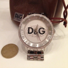 +++Ceas barbatesc Dolce & Gabbana D&G Prime Time Crystal Fashion Watch model DW0145+++, Quartz, Inox, Analog
